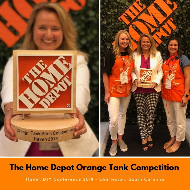 haven DIY conference, diy blogger Amie Freling of Meme Hill Studio, the Home Depot Orange Tank Winner