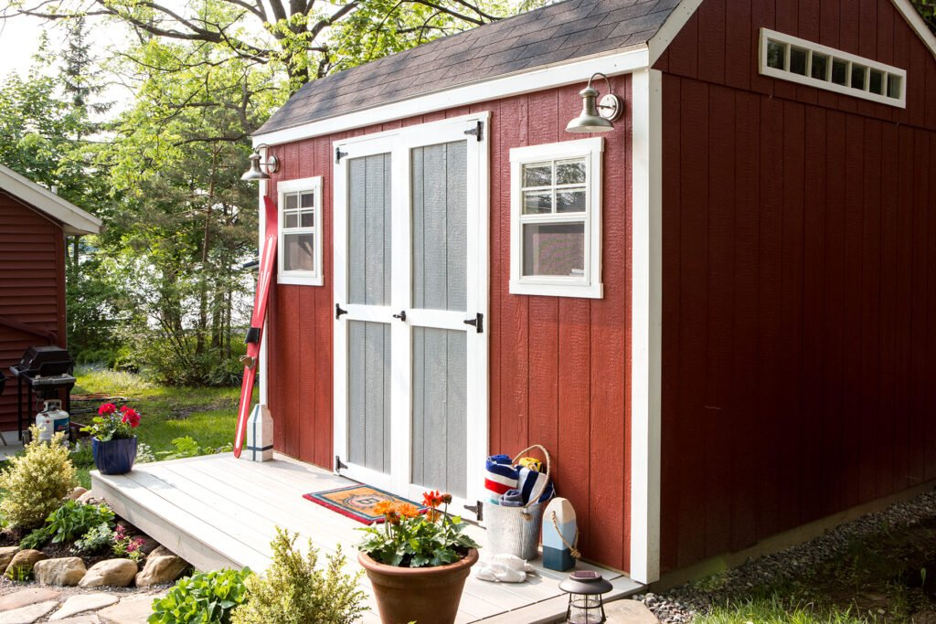 shed turned bunkhouse, she shed ideas, bunkhouse ideas and plans, home depot sheds, cute sheds, painting a shed