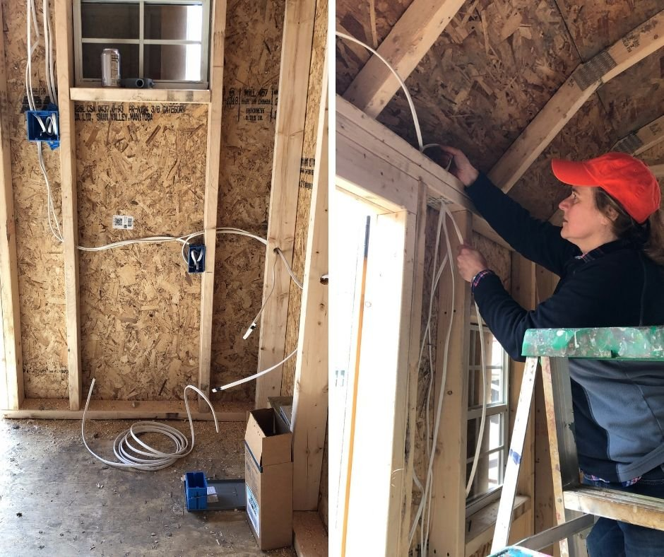 wiring a she shed. electric in a bunkhouse, how to give a shed electricity