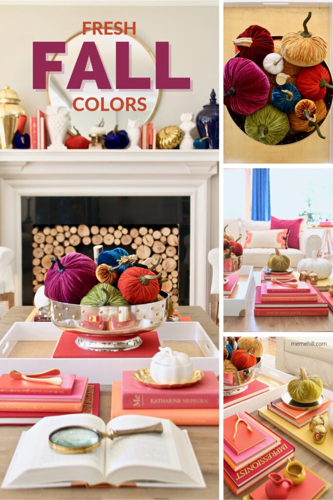 pretty colorful bright Fall colors and decorating ideas