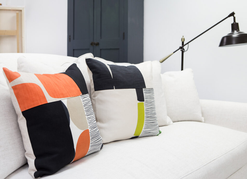 one fo a kind down filled accent pillows from Amie Freling Brown and meme Hill studio