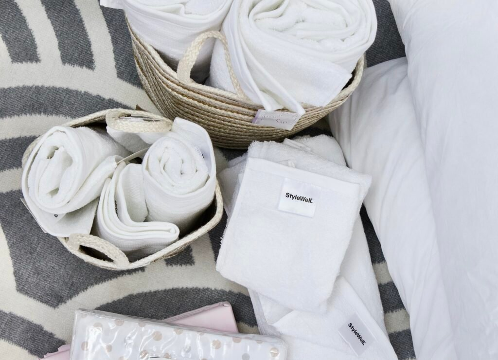 Affordable StyleWell towel sets from The Home Depot