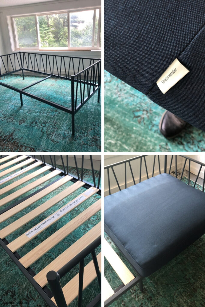 Easy to Assemble Sturdy industrial modern metal frame sofa