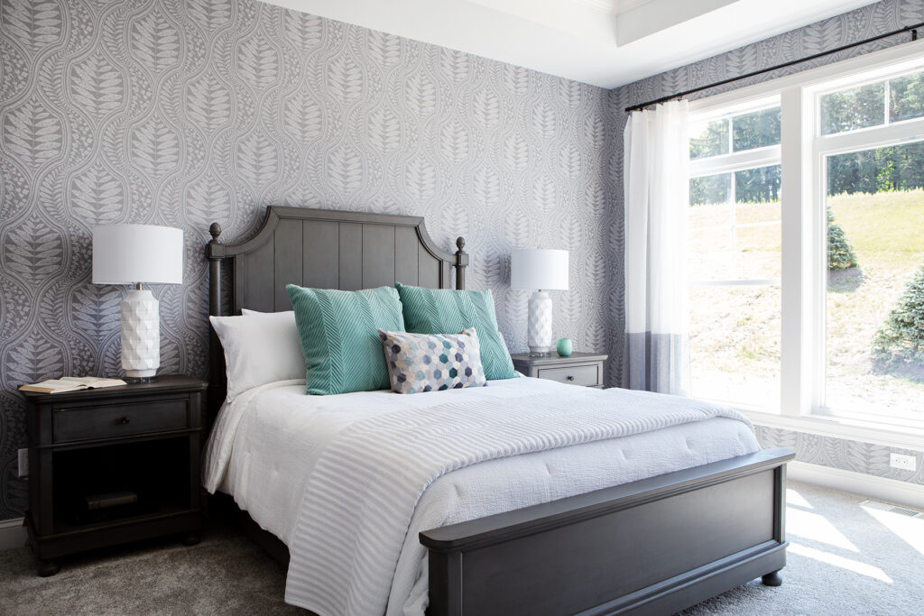 Affordable Gray Modern Farmhouse Style bedroom set