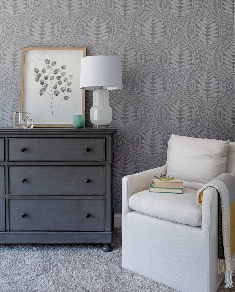 The Prettiest gray washed distressed Bedroom Dresser