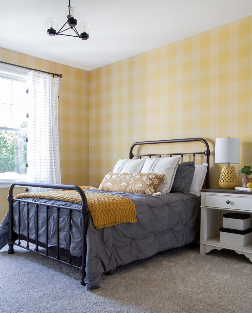 The Prettiest Affordable Farmhouse Modern Metal Bed