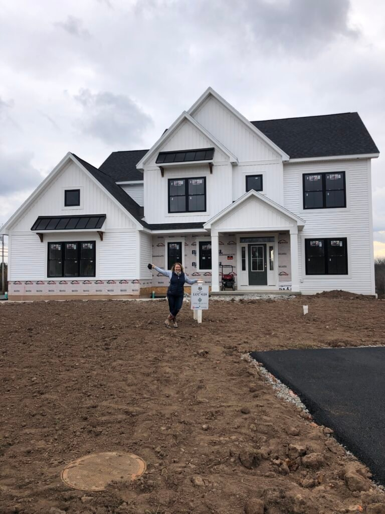 Amie Freling Brown at Morrell Builders Piper Meadows new modern farmhouse home in Victor NY