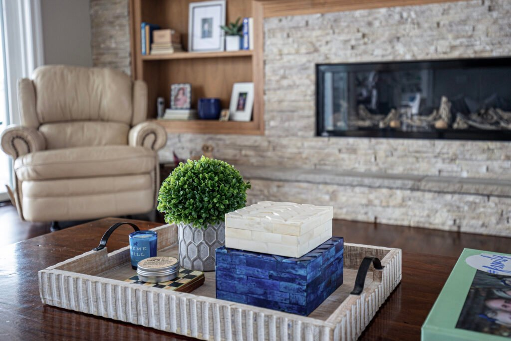 trays for coffee tables, coffee table styling, decorating a coffee table
