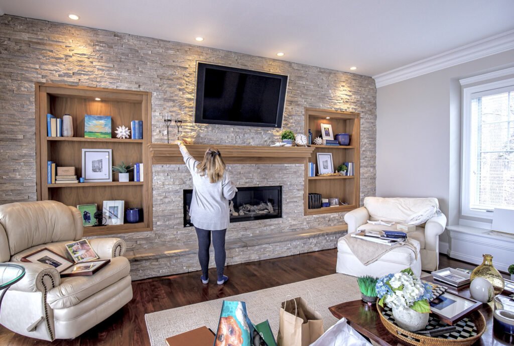 styling bookcases, ideas for shelves, mantel decorating ideas