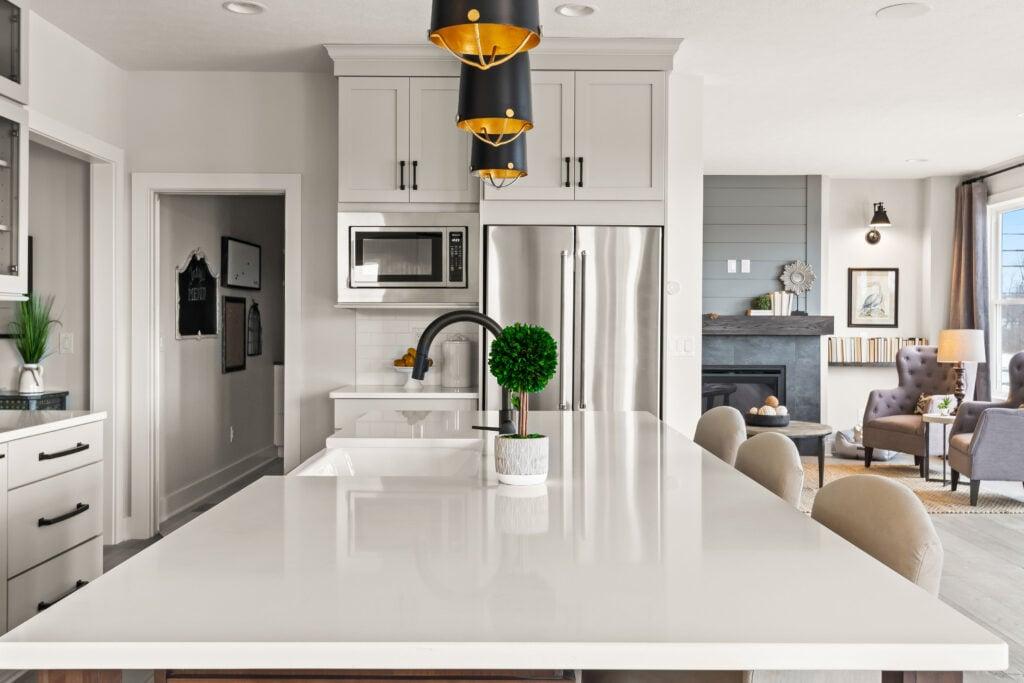 arctic white quartz countertop