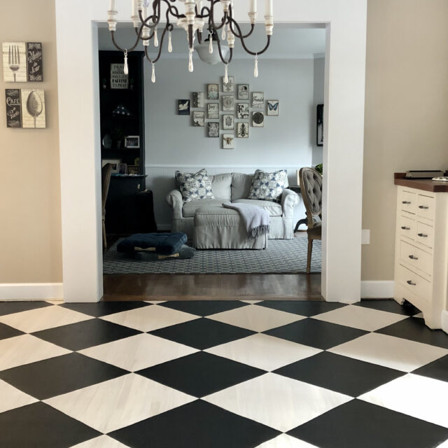 Painting CHECKERED FLOORS